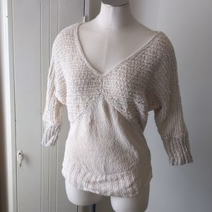 Sparrow cream knitted dolman sweater S